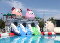 Outdoor Commercial Red Angry Bird Giants Inflatable Water Park With Slide