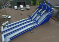 Outdoor PVC Tarpaulin 0.55mm Inflatable Water Slide With Airblower