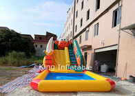 9 m Long Inflatable Monkey Water Slide With Removable Pool / Backyard Slide For Kids