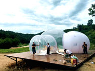 Outdoor 5m bedroom Clear Inflatable Bubble hotel Tent With silent blower