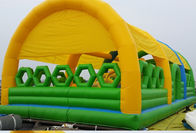 China New Design Commercial Outdoor Children Inflatable Amusement Park with Cover Tent company