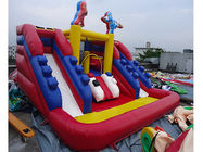 PVC Tarpaulin Outdoor Inflatable Water Slide For Kids Funny Amusement Games