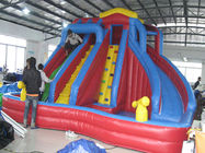 Outdoor Kids Inflatable Water Park With Slide / Inflatable Water Slide PVC Tarpaulin