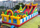 China Funny Outdoor Inflatable Amusement Park With Slide / Castle And Climb company