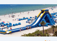 China 53.3m Long Hippo Water Slide Games Inflatable With One Slide And 4pieces Free Blowers company