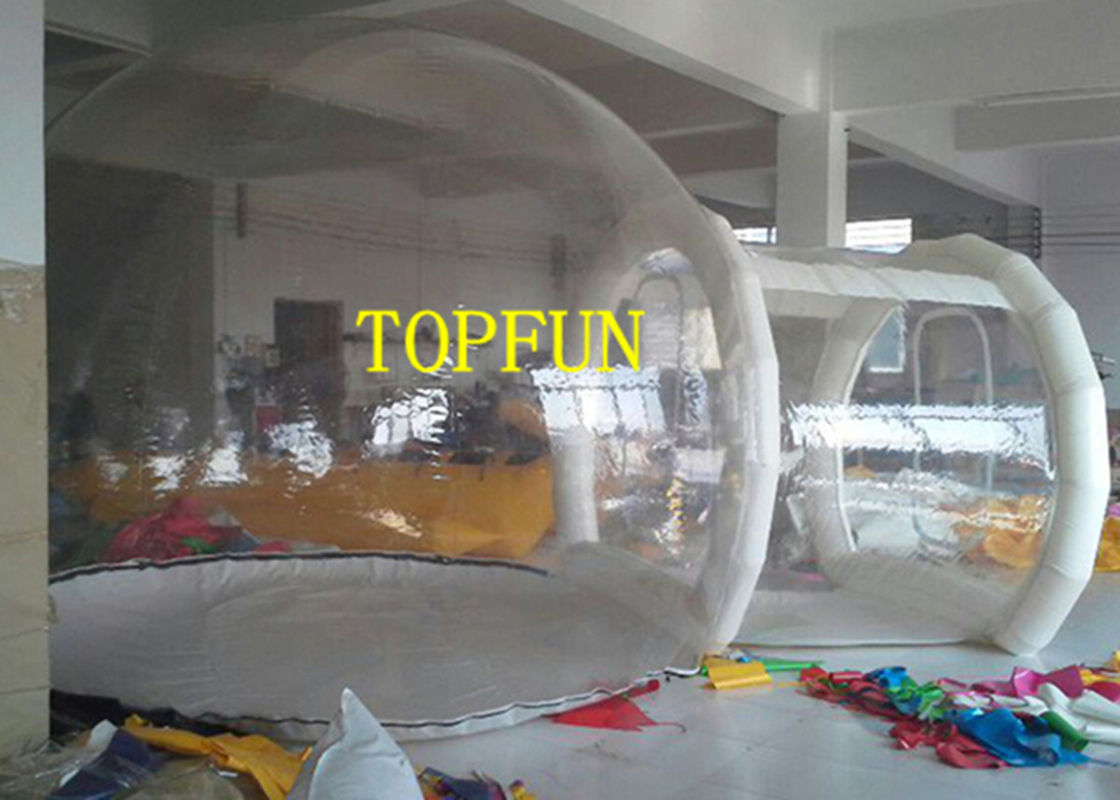 Transparent 0.8mm PVC Inflatable Bubble Tent With Tunnel For Exhibition & Transparent 0.8mm PVC Inflatable Bubble Tent With Tunnel For ...