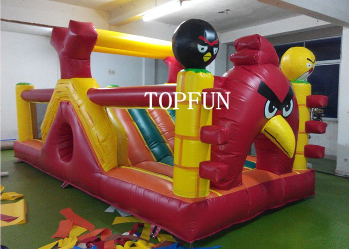 OEM 0.55 mm PVC Tarpaulin Inflatable Angry Bird Bouncy Castle Strong Sewing & OEM 0.55 mm PVC Tarpaulin Inflatable Angry Bird Bouncy Castle ...
