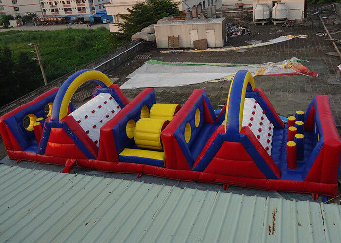 Awesome 15mL Inflatable Sports Games Fire Resistanc Colorful Obstacle Course