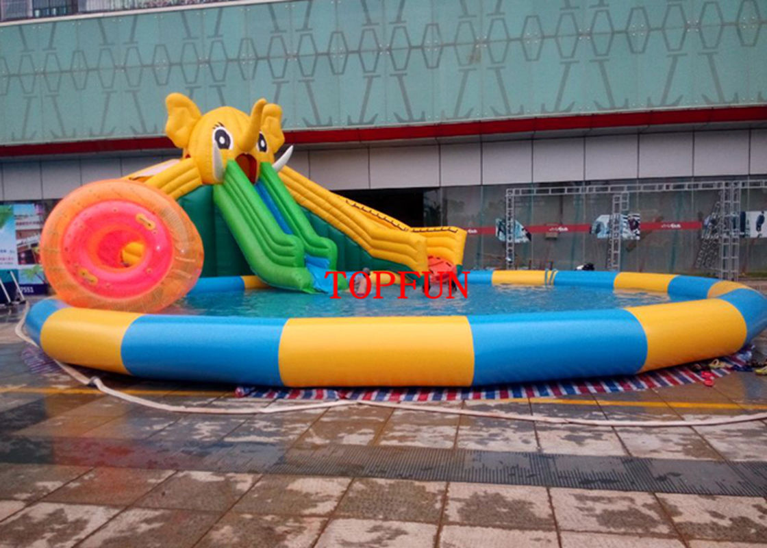 Custom PVC Tarpaulin Water Slide Inflatable Swimming Pool For Kids Adults