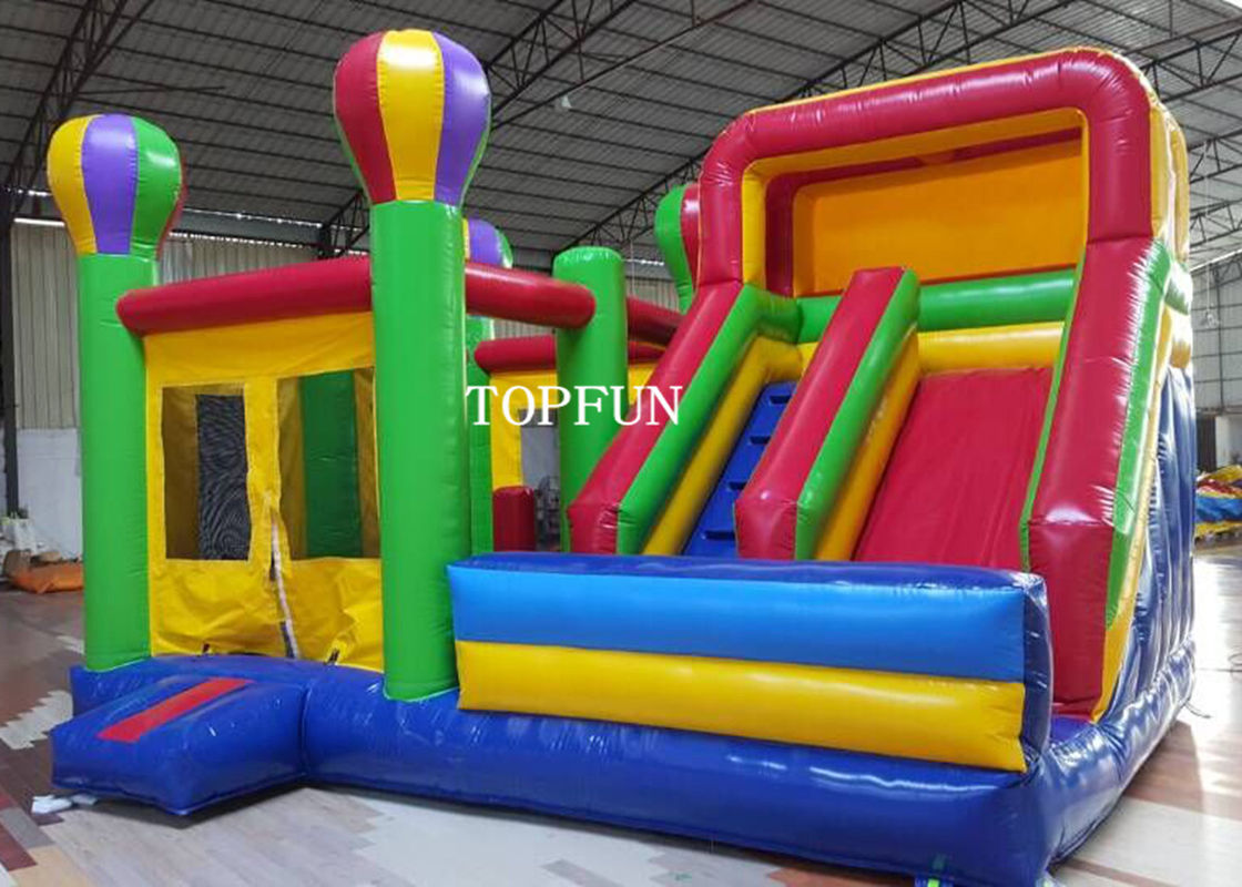 & Kids Happy Hop Jumping Castle With Slide For Birthday Party OEM