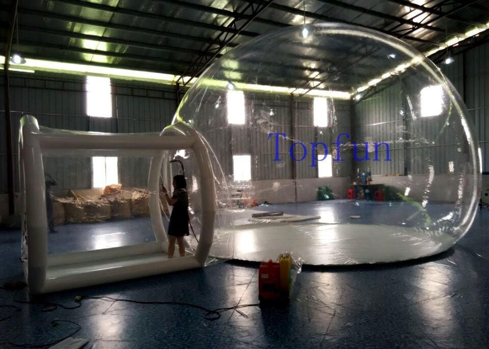 OEM Outdoor Inflatable Clear Bubble Tent 6m Dia Inflatable C&ing Tent & OEM Outdoor Inflatable Clear Bubble Tent 6m Dia Inflatable Camping ...