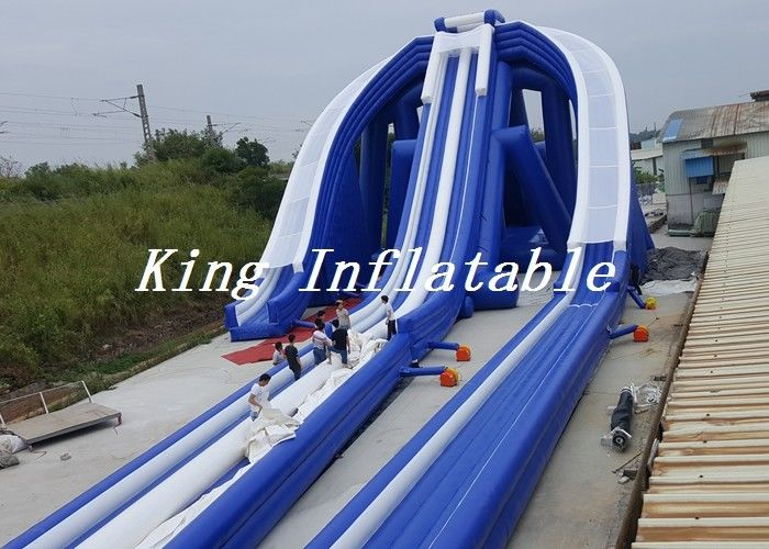 Outdoor Giant Inflatable Water Slide Trippo Slide On Beach 71x19.3m For Kids