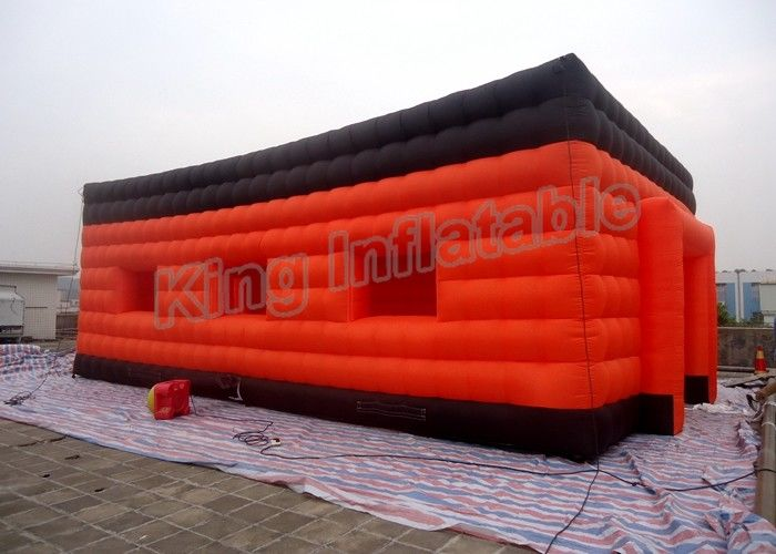 CE Inflatable Party Floating House Inflatable Event Tent With Orange Color Double Layers Design & CE Inflatable Party Floating House Inflatable Event Tent With Orange ...