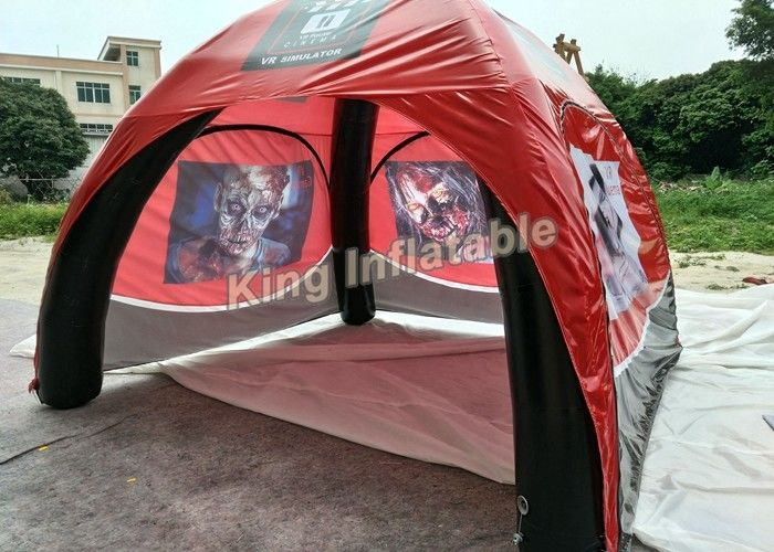 D Coform Exhibition : Red pvc tarpauline inflatable event tent igloo for exhibition