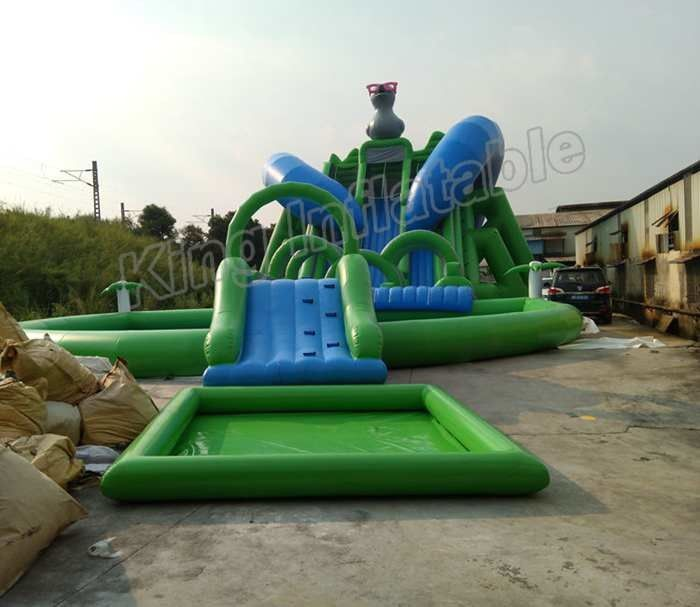 Outdoor Duck Shape Giant Inflatable Blow Up Water Slide