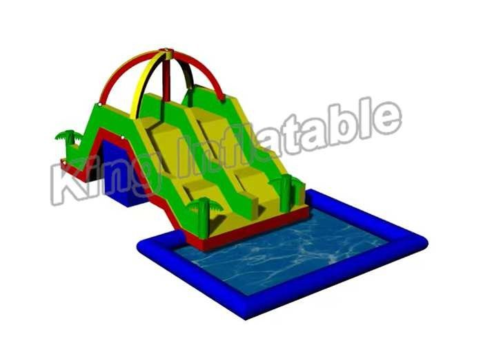 Large Inflatable Water Pool With Slide For Holiday Event