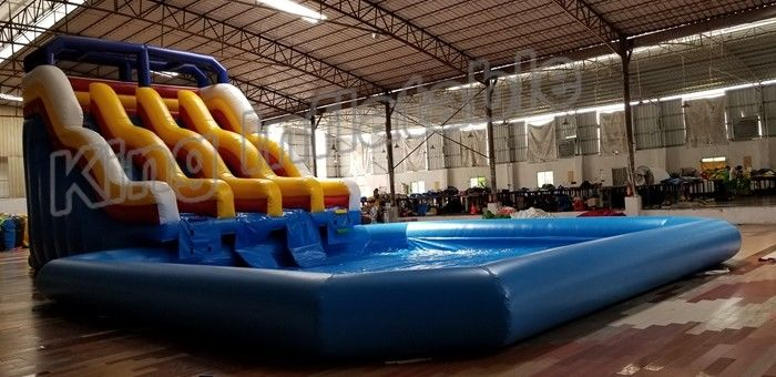 Durable pvc commercial inflatable water slides with - Commercial swimming pool water slides ...