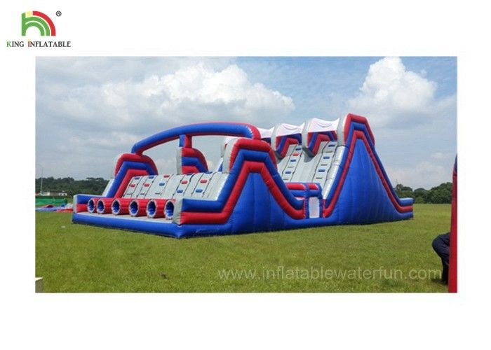 4 Lane Inflatable Sports Games / Military Boot Camp Obstacle Course