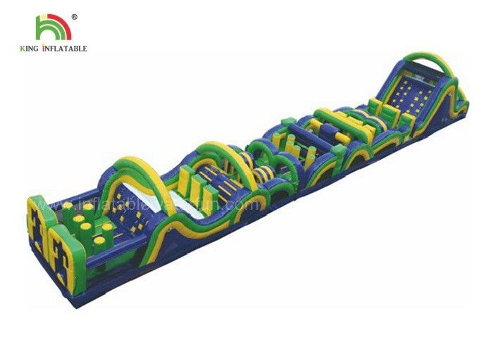 26m Long Challenge Adult Inflatable Obstacle Course, Inflatable Sports Games