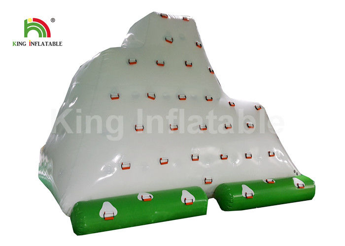 Commercial Heat Seal PVC Inflatable Water Toy / Floating Iceberg For Entertainment