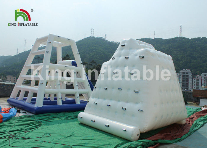 0.9mm PVC Tarpaulin 3 x 2m Inflatable Water Toy / Inflatable Floating Iceberg