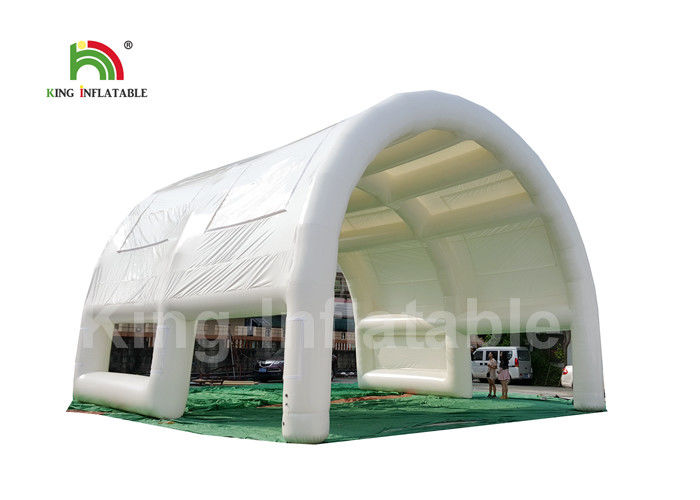 Water - Proof PVC 40 * 10m White Giant Inflatable Cube Tent For Wedding Parties