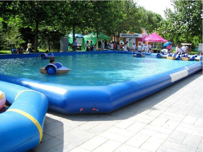 Outdoor pvc above ground inflatable swimming pools for amusement water park for Large above ground swimming pools
