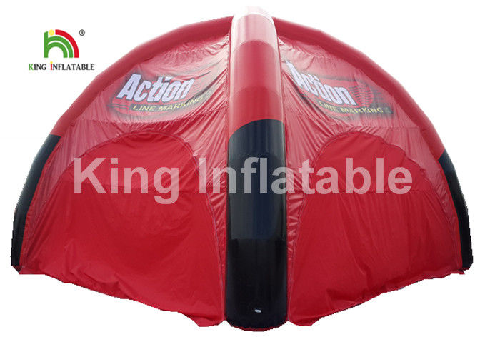 Airtight Black And Red Inflatable Event Tent For Advertising / Exhibition / Tourist