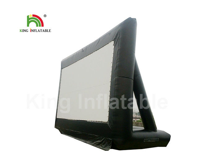 CE Custom Black PVC 10m Inflatable Projector Screen, Inflatable Outdoor Movie Screen