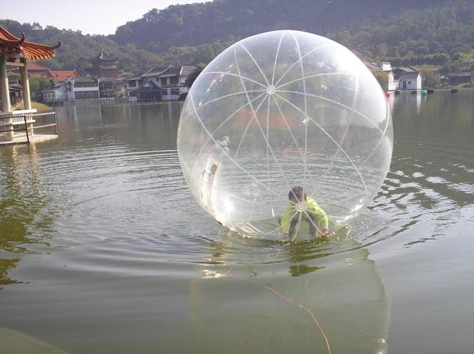 Clear Pvc 2m Inflatable Aqua Ball Walk On Water Ball For