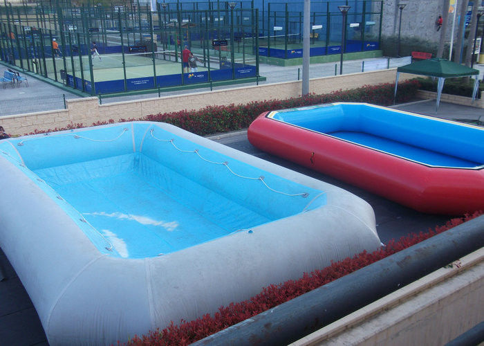 blue pvc inflatable swimming pools