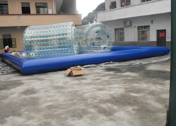 Commercial Inflatable Swimming Pools with Water Roller and Water Balls 0.9mm PVC Tarpaulin