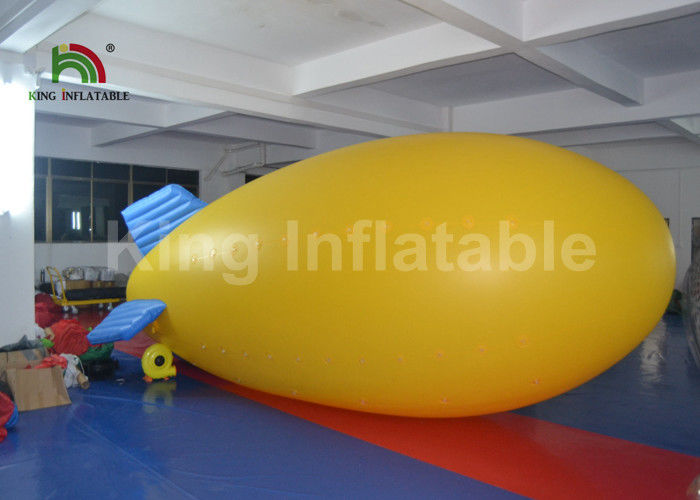 Outdoor Airship PVC 5m Helium Inflatable Advertising Balloons For Commercial