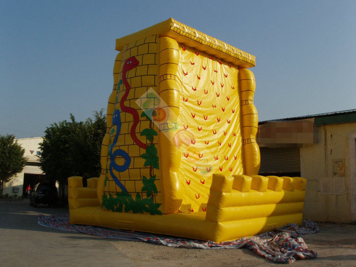 Funny Giant Inflatable Sports Games / Climbing Wall For Amusement Park Equipment