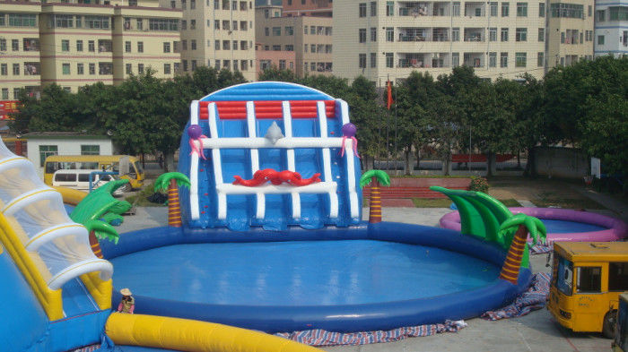Big Blow Up Water Slides Commercial Inflatable Pool Water Slides For