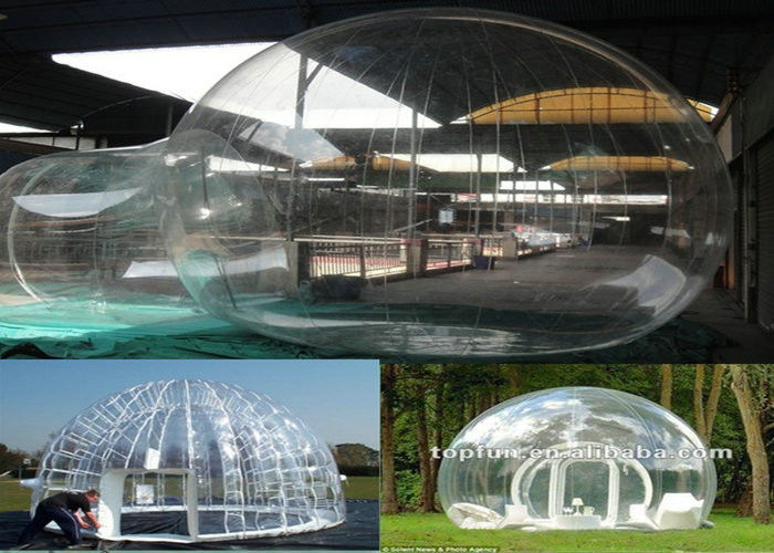 Transparent inflatable bubble tent / clear tent for commercial exhibition and Show & Transparent inflatable bubble tent / clear tent for commercial ...