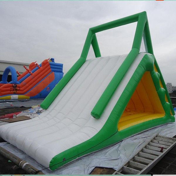 Adult   Kid Inflatable Water Slide Floating Island Rental Business Or    Inflatable Water Slide For Adults