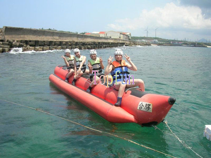 Red water game banana boat inflatable fly fishing boats for Inflatable fishing boats