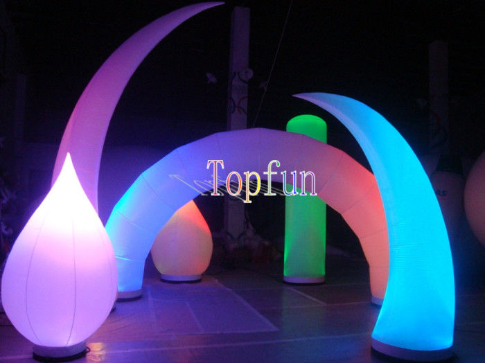 Large Helium Inflatable Advertising Balloons / LED Lighting Balloon For Outdoor Trade Show & Large Helium Inflatable Advertising Balloons / LED Lighting Balloon ...