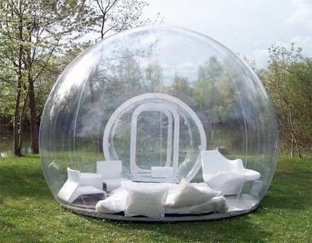 4m 1.0mm Clear PVC Inflatable Bubble Tent for Family Party