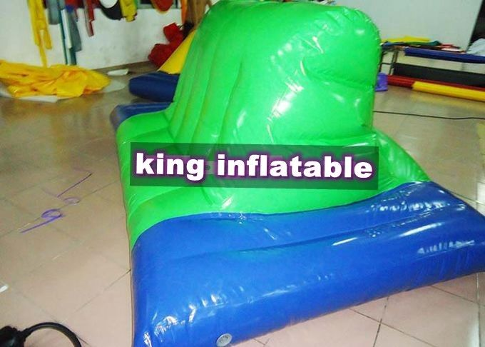 Green And Blue Inflatable Water Toys PVC Inflatable Side Horse For Water Parks