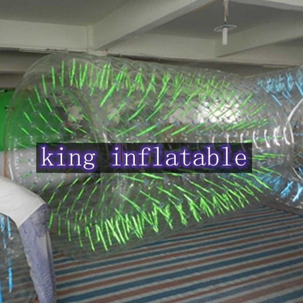 Commercial Clear PVC / TPU Inflatable  Walking On Water Cylindrical Toy For Water Park