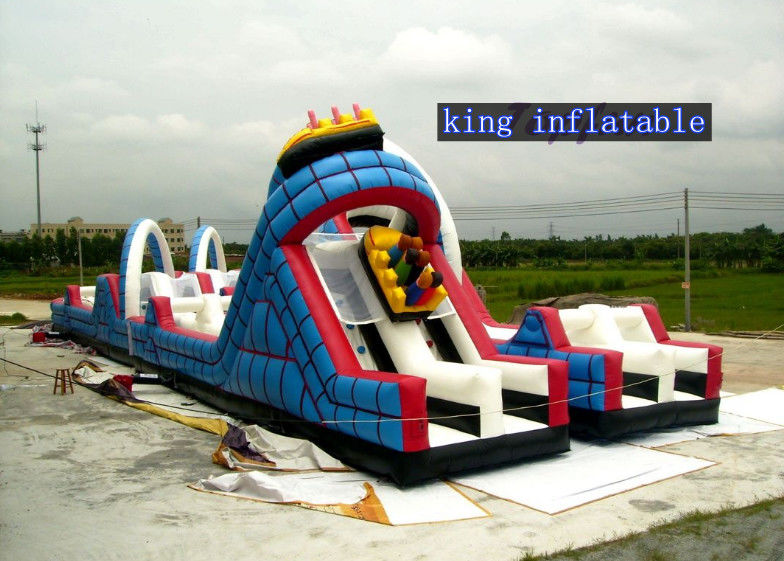 Kids Play Roller Coaster Inflatable Slide , Inflatable ...