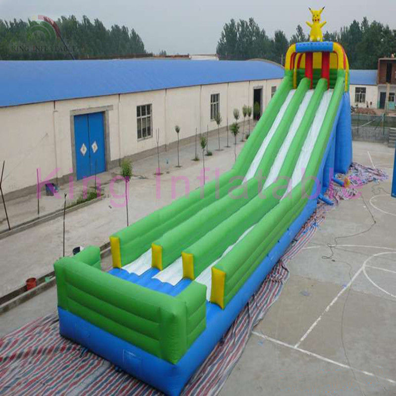 Triple Lanes Giant Inflatable Water Slide Colorful For ...