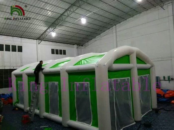 Green / White Waterproof Giant Inflatable Event Tent Easy Set Up And Dismantle