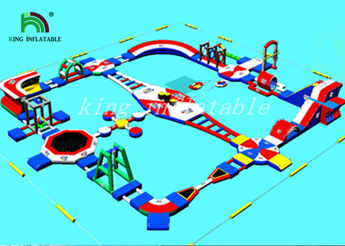 Colorful Blow Up Water Parks / Outdoor Inflatable Water Park For Kids