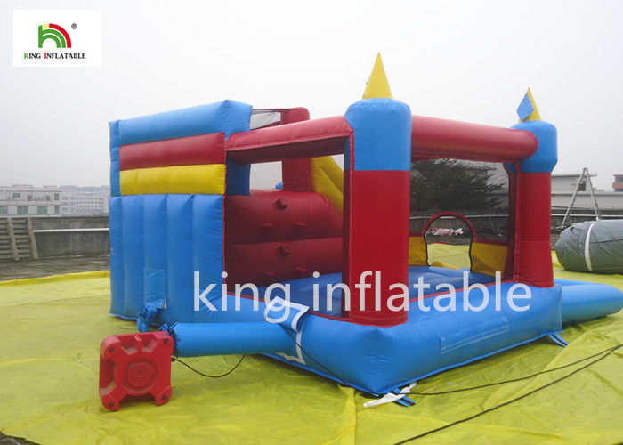 Small Colorful Inflatable Jumping Castle With Slide For Kids Commercial