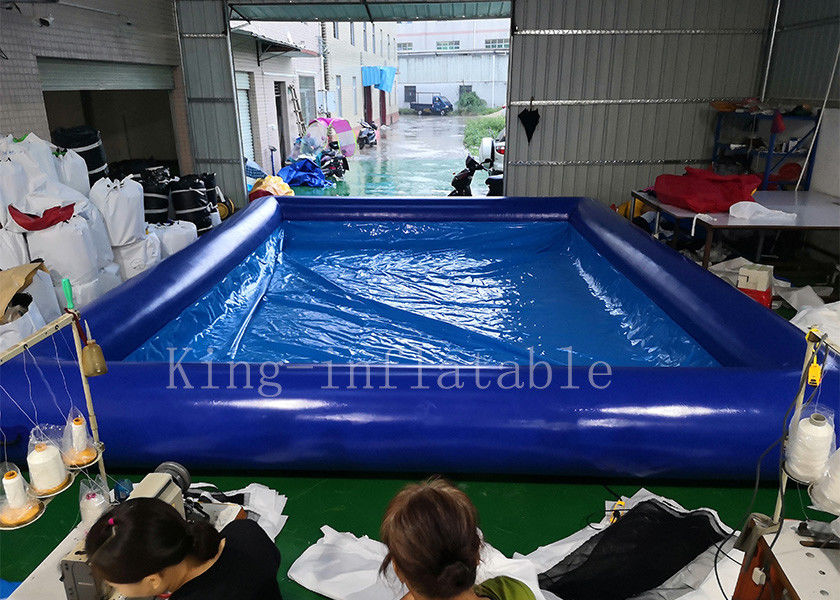 Blue Color 42 Square Meters Inflatable Swimming Water Pool Fire Resistant