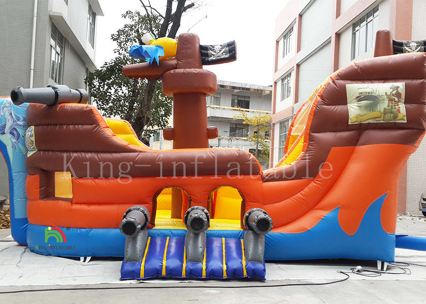 Parrot Sea Rover Corsair Inflatable Jumping Castle Bouncer with slide