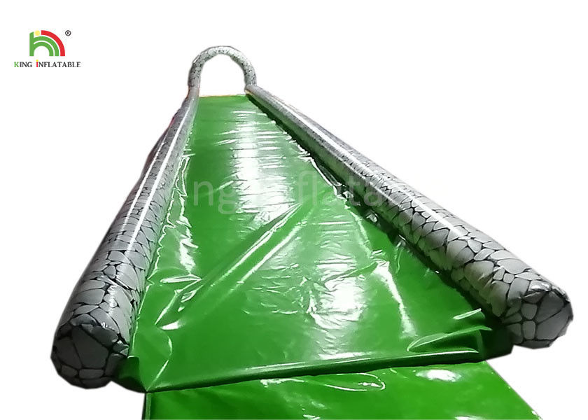 Green Single Lane 15 m Long Inflatable Water Slide For Adults Customized Size
